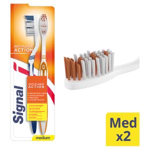Signal Antiplaque zubní kartáček středně tvrdý 2 ks