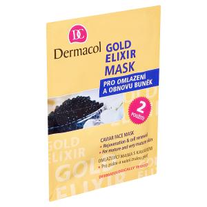 Dermacol Gold Elixir Omlazující maska s kaviárem 2 x 8g