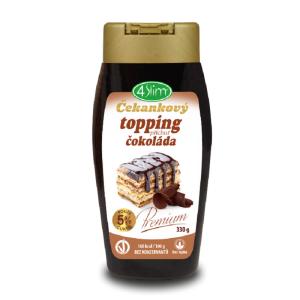 4Slim Čekankový topping příchuť čokoláda 330g
