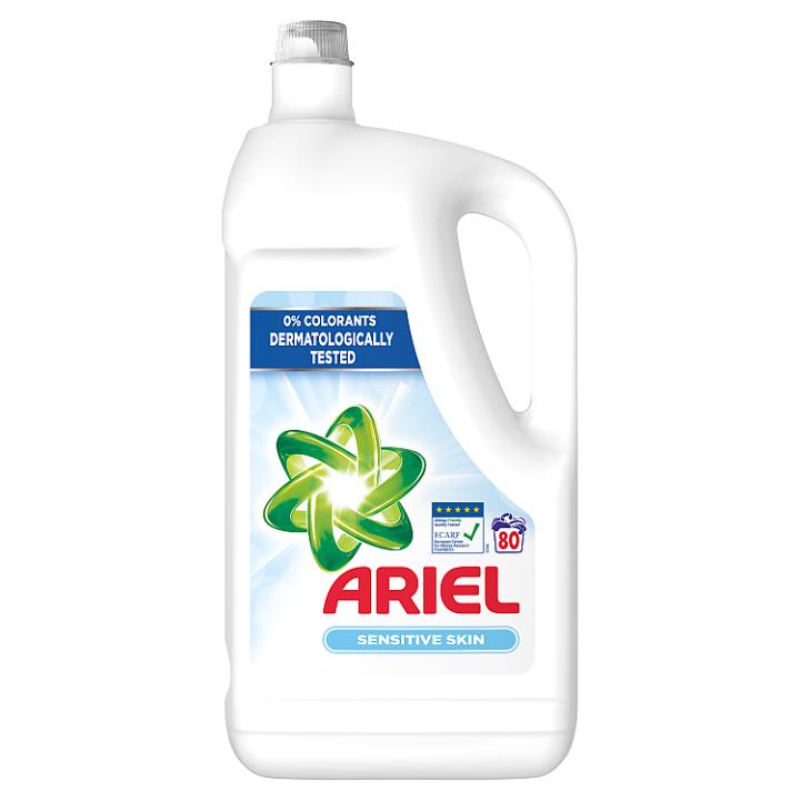 Ariel Sensitive Tekutý Prací Prostředek 4.4l, 80 Praní