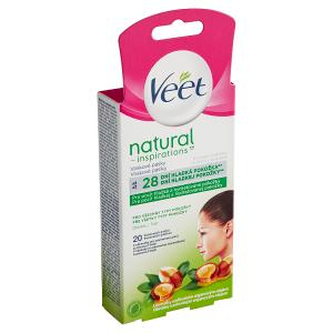 Veet Natural Inspirations Voskové pásky na obličej a ubrousky s arganovým olejem 20 ks