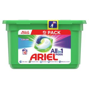 Ariel All-In-1 PODs Colour Kapsle Na Praní, 10 Praní