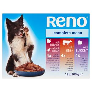Reno Kompletní krmivo pro dospělé psy 12 x 100g