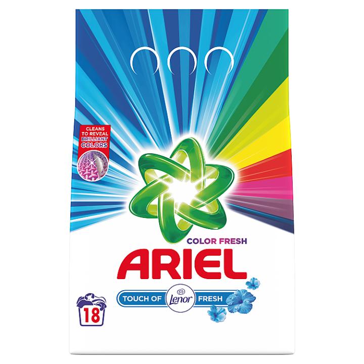 Ariel Touch Of Lenor Fresh Color Prací Prášek, 1.35kg, 18 Praní