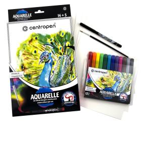 Centropen Aquarelle set rozmyvatelné značkovače 9383