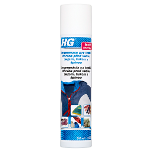 HG Impregnace pro textil ochrana před vodou olejem, tukem a špínou 300ml