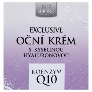 Bione Cosmetics Exclusive Bio oční krém s kyselinou hyaluronovou koenzym Q10 51ml