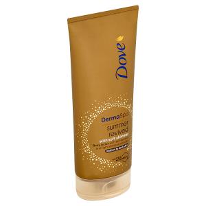 Dove Derma Spa Summer Revived samoopalovací tělové mléko s třpytkami 200ml