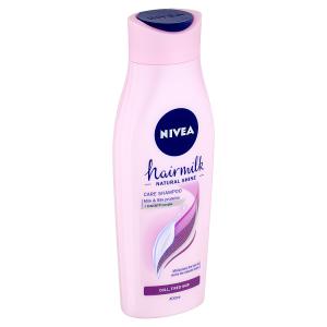 Nivea Hairmilk Natural Shine Pečující šampon 400ml