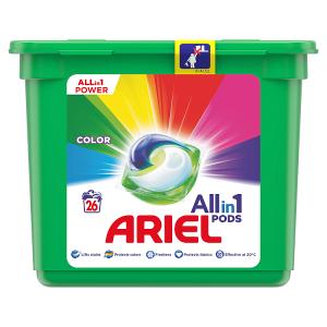 Ariel All-In-1 PODs Colour Kapsle Na Praní, 26 Praní