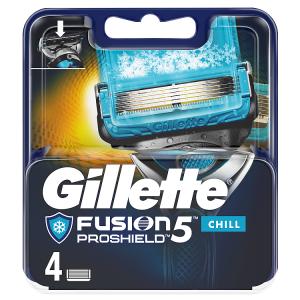 Gillette Fusion5 ProShield Chill Hol Hlavice Pro Muže 4Ks
