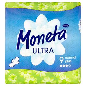 Moneta Ultra Normal Plus dámská vložka s křidélky 9 ks