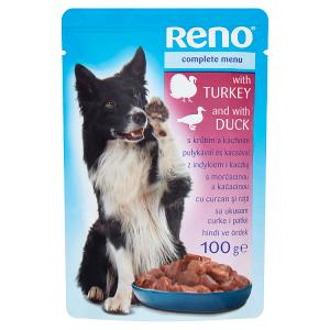 Reno Kompletní krmivo pro dospělé psy s krůtím a kachním 100g