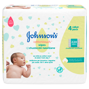 Johnson's Cottontouch Vlhčené ubrousky 224 ks
