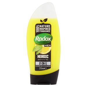 Radox Feel Heroic 2v1 pánský sprchový gel a šampon 250ml