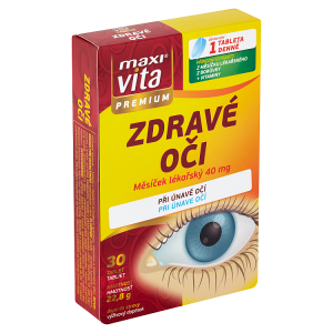 MaxiVita Premium Zdravé oči měsíček lékařský 40 mg 30 tablet 22,8g