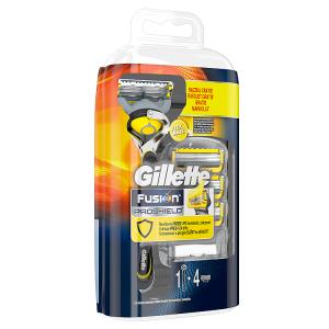 Gillette Fusion ProShield Pánský Holicí Strojek S Technologií FlexBall  + Holicí Hlavice, 4 ks