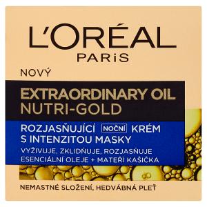 L'Oréal Paris Extraordinary Oil Nutri-Gold rozjasňující noční krém s intenzitou masky 50ml