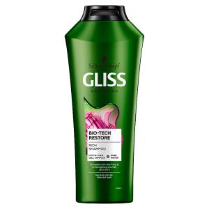 Gliss regenerační šampon Bio-Tech Restore pro křehké vlasy 400ml