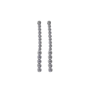 PRAQIA Stříbrné náušnice Linea