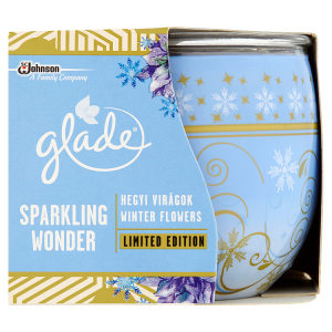 Glade Sparkling Wonder Winter Flowers svíčka 120g