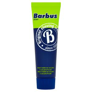Barbus Sport pěnivý krém na holení s chlorofylem 75g