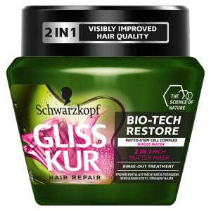 Gliss Kur 2v1 balzám nebo maska Bio-Tech Restore 300ml
