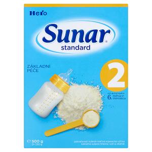 Sunar Standard 2 pokračovací sušená mléčná kojenecká výživa 2 x 250g