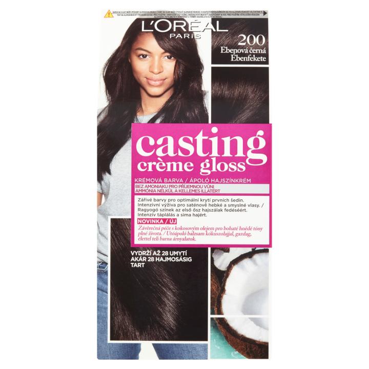 L'Oréal Paris Casting Crème Gloss Ebenová černá 200