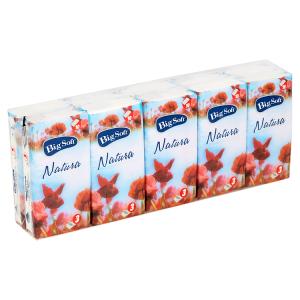 Big Soft Natura hygienické kapesníčky 3-vrstvy 10 x 10 ks