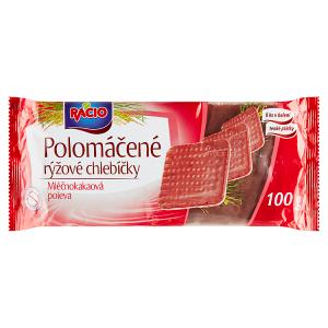 Racio Polomáčené rýžové chlebíčky mléčnokakaová poleva 100g