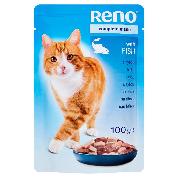 Reno Kompletní krmivo pro dospělé kočky s rybou 100g Reno