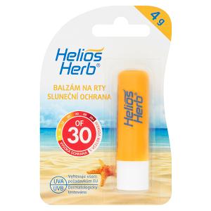 Helios Herb Balzám na rty sluneční ochrana OF 30 4g