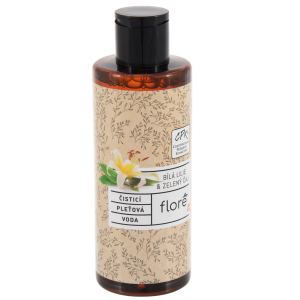 Floré Čisticí pleťová voda bílá lilie & zelený čaj 200ml