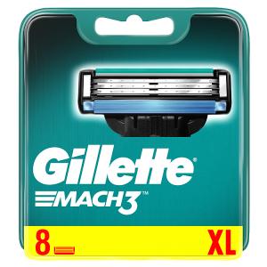 Gillette Mach3 Pánské Holicí Hlavice, Náhradní Holicí Hlavice 8 ks