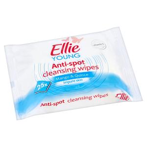 Ellie Young Hloubkově čisticí pleťové ubrousky pro problematickou pleť Mango & Quince 25 ks