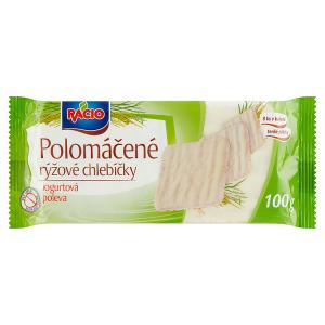 Racio Polomáčené rýžové chlebíčky jogurtová poleva 100g