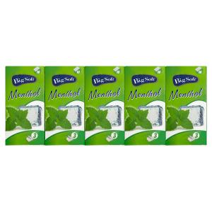 Big Soft Menthol hygienické kapesníčky 3-vrstvy 10 x 10 ks