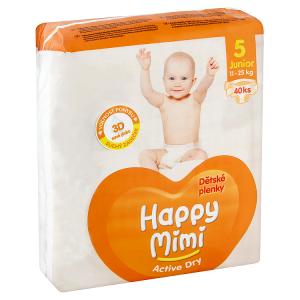 Happy Mimi Active Dry Dětské plenky 5 junior 11-25kg 40 ks