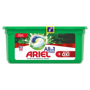 Ariel Allin1 Pods +OXI Kapsle Na Praní 24 Praní