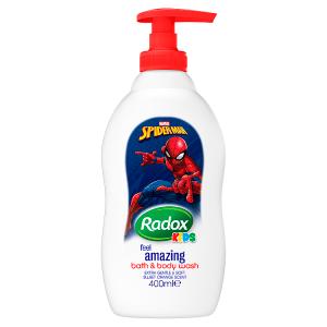 Radox Spiderman dětský sprchový gel a pěna do koupele 400ml