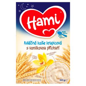 Hami mléčná kaše krupicová s vanilkovou příchutí na dobrou noc první lžička 225g