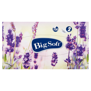 Big Soft Kosmetické ubrousky 2-vrstvy 100 ks