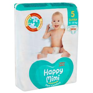 Happy Mimi Flexi Comfort dětské plenky 5 junior 34 ks