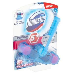 Domestos Power 5+ Blue Water Pink WC blok 53g