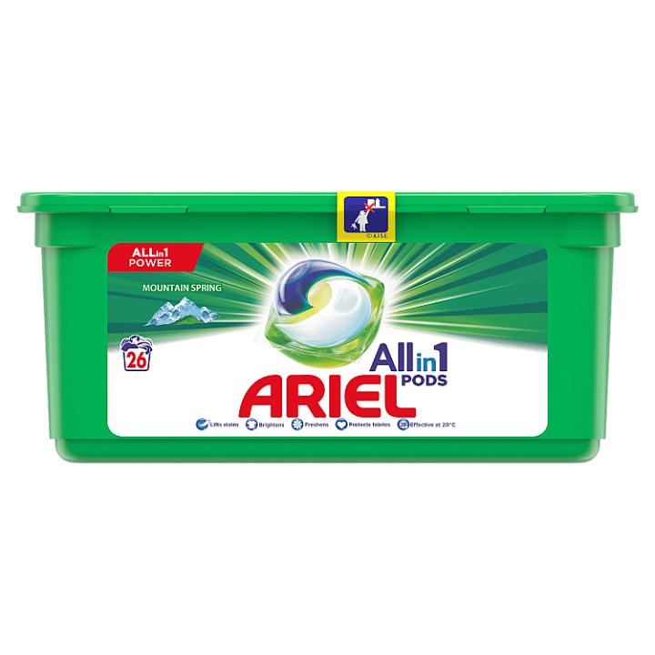 Ariel Allin1 Pods Mountain Spring Kapsle Na Praní 26 Praní