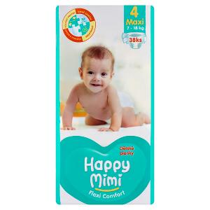 Happy Mimi Flexi Comfort dětské plenky 4 maxi 38 ks