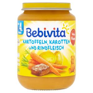 Bebivita Mrkev a brambory s hovězím masem 190g