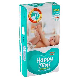 Happy Mimi Flexi Comfort dětské plenky 3 midi 44 ks