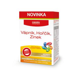 Cemio Vápník, Hořčík, Zinek (40tbl/kra)
